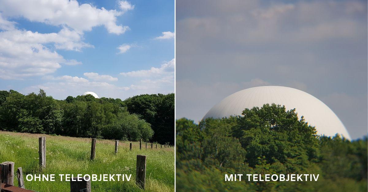 Vergleich Teleobjektiv für Handy