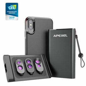 Apexel 3-in-1 Objektivset für iPhone X/XS