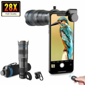 Apexel HD Handyobjektiv 28X Zoom Teleobjektiv