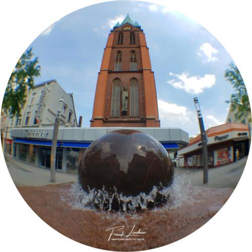Kirche Herne - Smartphone Fisheye-Foto